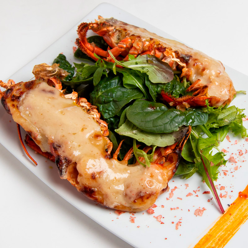 Lobster with thermidor sauce