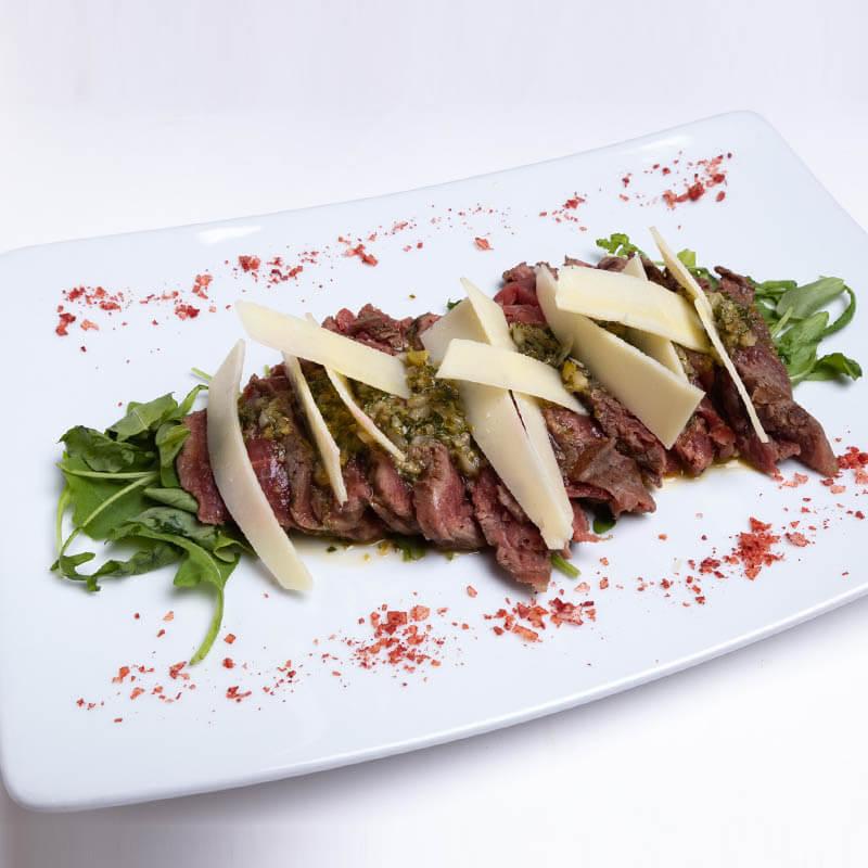 Beef Tenderloin carpaccio with steak tartar sauce